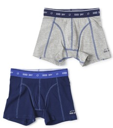 boxers set grey melee & dark blue Little Label