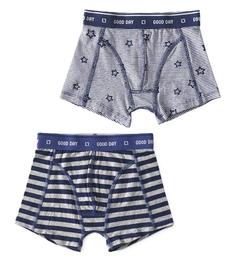 boxers big blue stripe & stars stripe blue Little Label