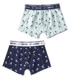 boxers palm azur & palm blue Little Label