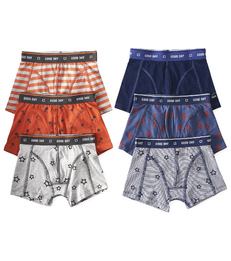 6-pack boxer shorts boys - orange & blue - Little Label