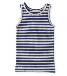 jongens hemd blauw wit gestreept Little Label
