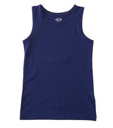 Jongens hemd - uni navy blue - Little Label