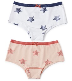 hipster set - white star & light pink star Little Label