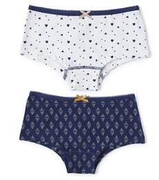 hipster set - dark blue triangle dot & white assorti Little Label