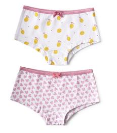 hipster set - lemons & hearts lilac pink Little Label