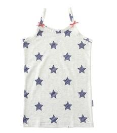 Meisjes hemd - blue striped stars - Little Label