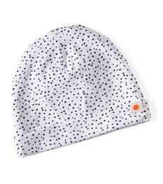 baby hat - white dot