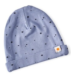baby hat - medium blue star
