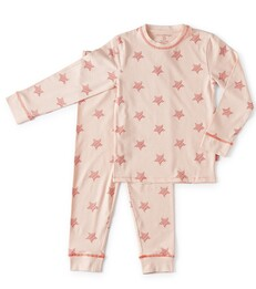 roze baby meisjes pyjama light pink star - Little Label
