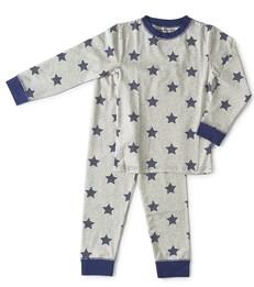 pyjama baby boys grey melee star Little Label