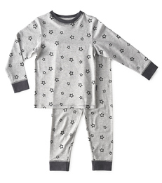 jongens pyjama - star almost black - Little Label
