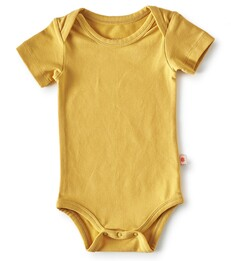 bodysuit short sleeves - golden yellow