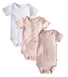 romper 3-pack - pink white- Little Label