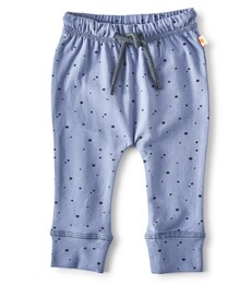 Smal baby broekje - blauwe sterren print - Little Label
