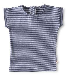 blauw gestreept baby shirtje- Little Label