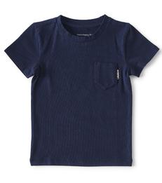 baby shirtje korte mouw- navy blue - Little Label