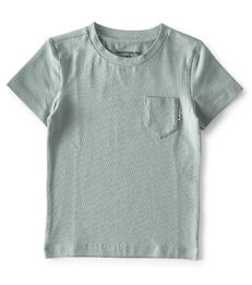 baby shirtje korte mouw- greenblue - Little Label
