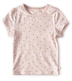 meisjes top baby meisjes - light pink hearts Little Label