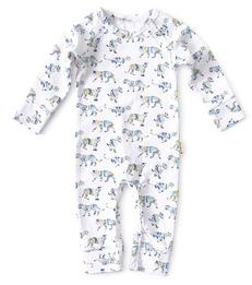 blauw babypakje tijger print Little Label