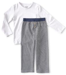 grijze ruitjes pyjama jongens Little Label