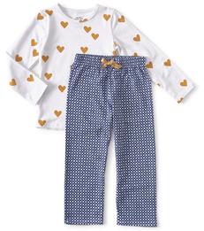 blauwe ruitjes pyjama meisjes Little Label