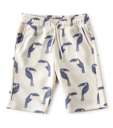 grijze jongens shorts met allover tucan print Little Label