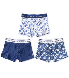 boxers shorts boys 3-piece blue whale combi Little Label