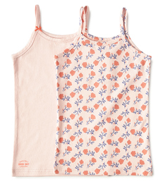 meisjes hemden set roze combi Little Label