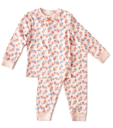roze pyjama bloemen print Little Label