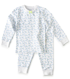 baby pyjamas - dragonfly blue