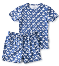 summer pyjama - navy blue whale