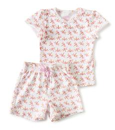 korte pyjama roze libellen print Little Label