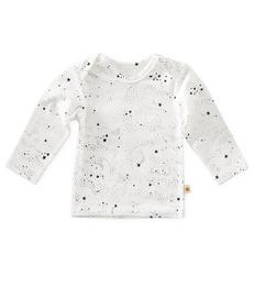 baby shirt lange mouw -  off white black stars - Little Label