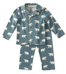 jongens pyjamaset jongens blauwe ijsberen print Little Label