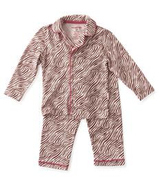 pyjamaset meisjes roze zebra strepen Little Label