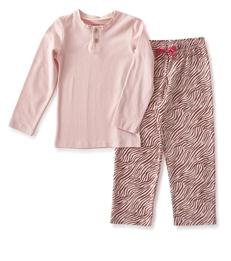 meisjes pyjama roze zebra print Little Label