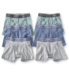 boxershorts 6-pack - groen blauw grijs Little Label