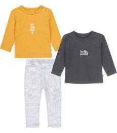 geel baby kleding setje Little Label
