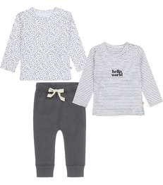 baby kleding set antraciet grijs Little Label