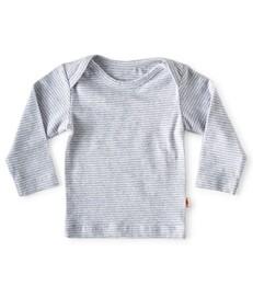 baby shirt lange mouw - blauwe gestreept - Little Label