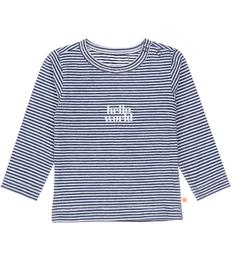 baby shirt - stripe navy world Little Label