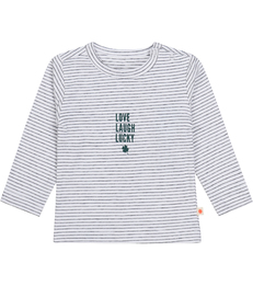 baby shirt - stripe black lucky Little Label