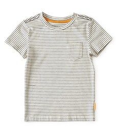 t-shirt loose fit jongens - creme gestreept - Little Label