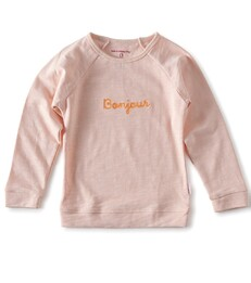 raglan sweater girls - light pink