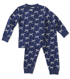 blauwe baby meisjes pyjama Little Label