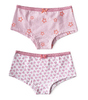 hipster 2-pack - hearts lilac pink & star lilac pink