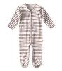 sleepsuit with feet - copper stripe