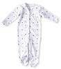 sleepsuit with feet - blue starburst