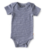 bodysuit short sleeves - small stripe navy