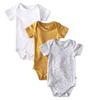 bodysuit short sleeve 3-pack - yellow white